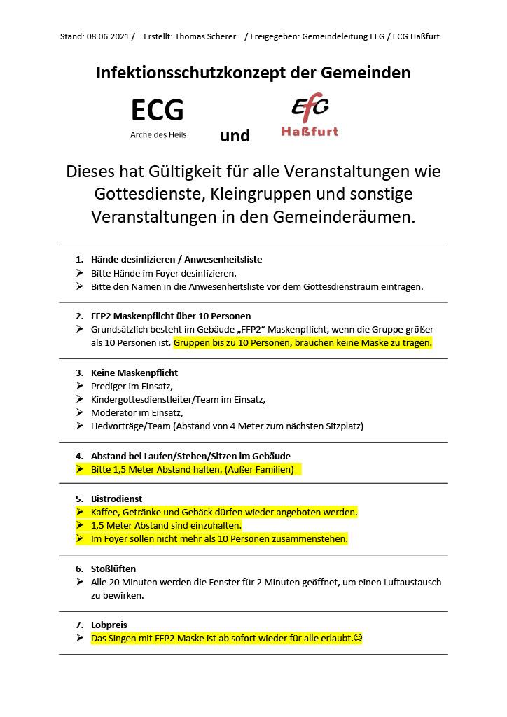 Hygienekonzept EFG