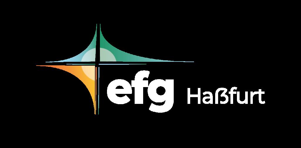 EFG Hassfurt Logo in weiß